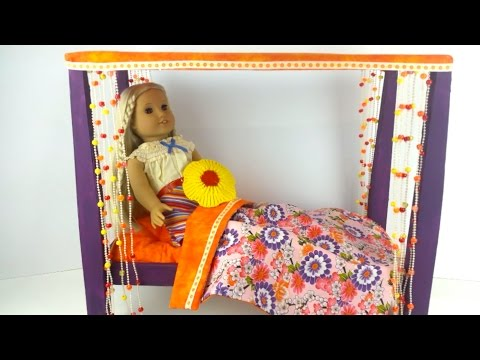 DIY/ How To make American Girl Doll Julie's Bed