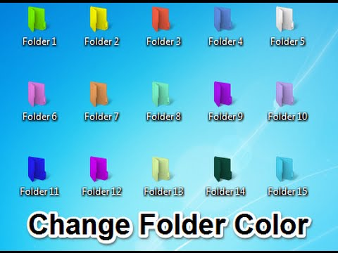 How to change computer folder color in Windows 7, 8, 10 - 2018