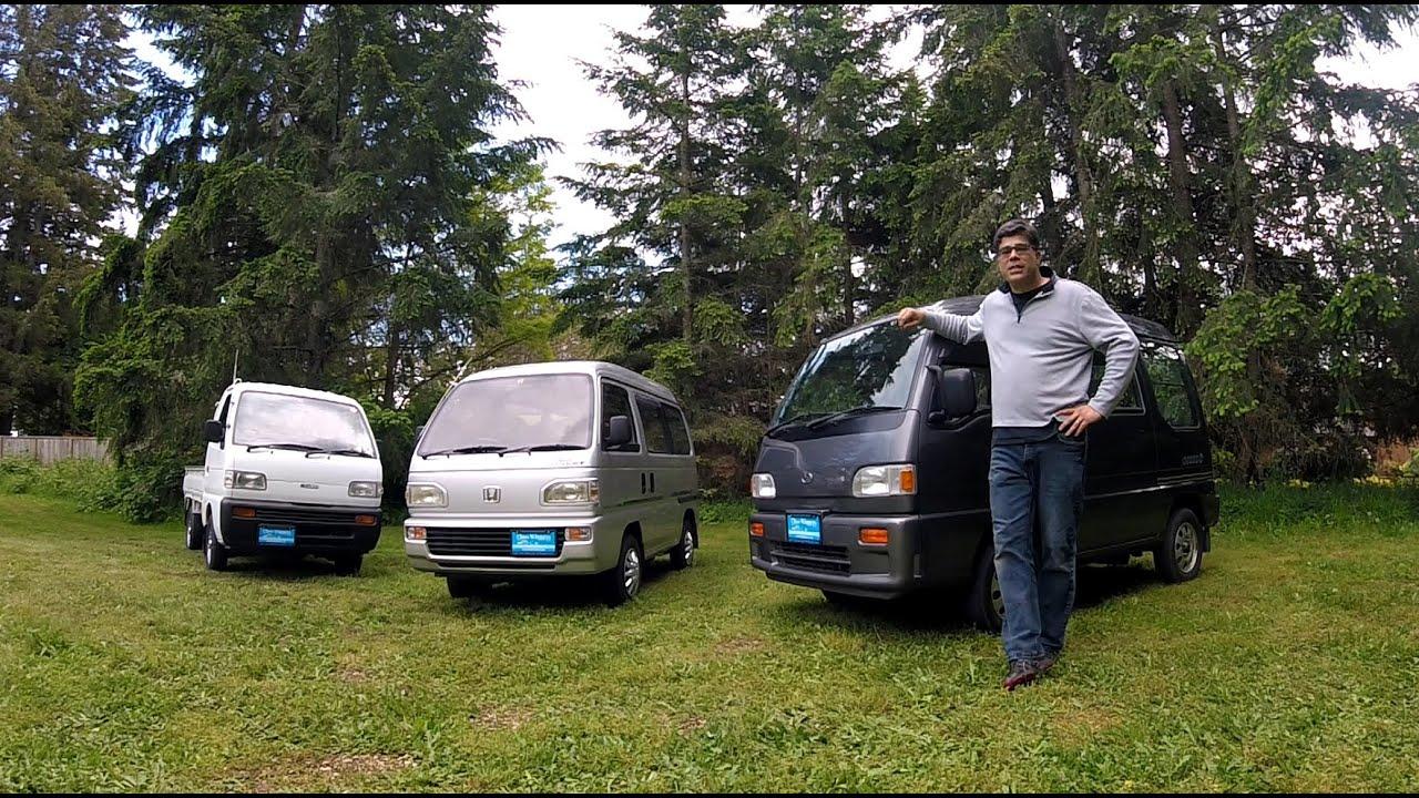 Honda Acty Street HH4 vs Subaru Sambar Dias Kei AWD Microvans Class Winners Seat of The Pants Video