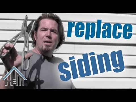 How to replace vinyl siding. broken siding. Like new! Home Mender