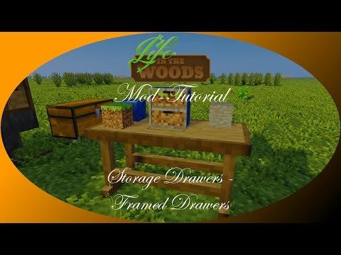 Storage Drawers (4/4) - Framed Drawers [Tutorial | Erklärung] Minecraft - Life in the Woods