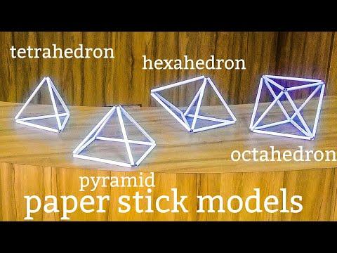 3d shapes | paper stick maths model