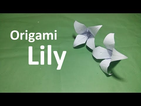 Origami Lily Flower:-Amazing Paper Lily easy Making Tutorial|How To make an origami Lily Simply Way