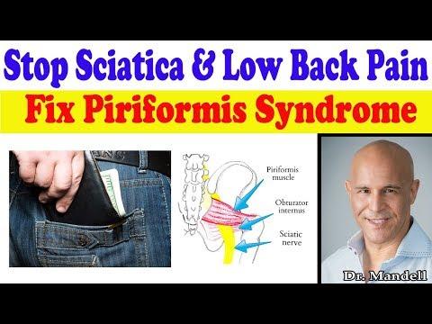 Fix Piriformis Syndrome:  Stop Low Back & Sciatica - Dr Alan Mandell, DC