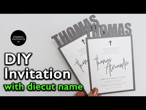 Easy DIY Personalised Name Invitation - custom svg file in Adobe Illustrator cut out with Cricut