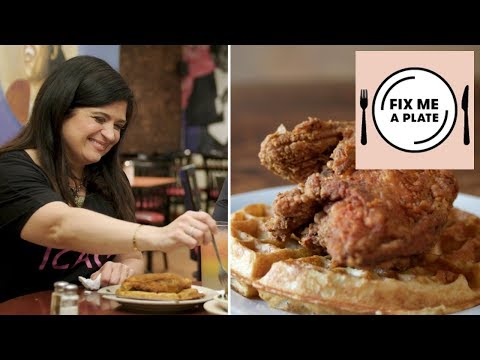 Chicken and Waffles at Amy Ruth's with Alex Guarnaschelli | Food Network