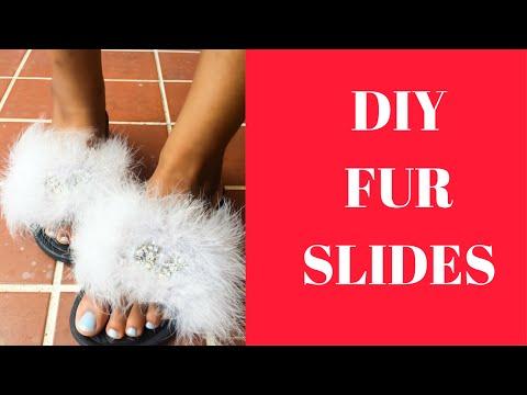 Not So Basic DIY Rihanna Puma Fur Slides