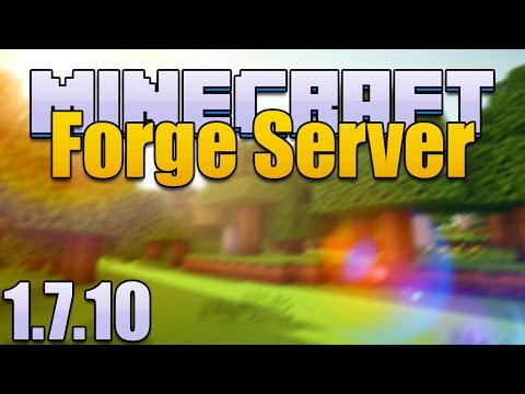 How to Make a Minecraft 1.7.10 Forge Server Using Port Forwarding!