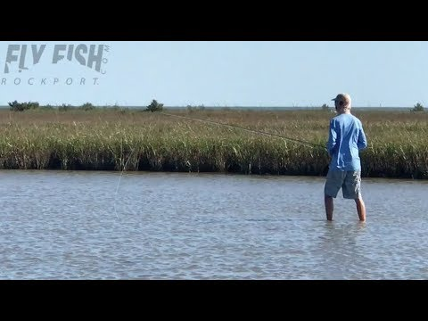 Wade Fishing for Redfish in Port O'Connor, Texas
