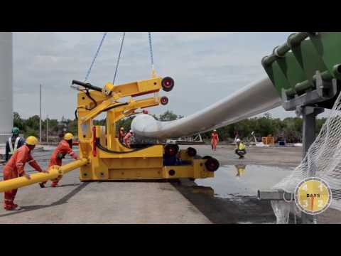 Kroll K760L Tower Crane for Wind Turbine Erection