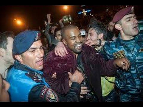 Kim,Khloe Kardashian and Kanye West at Armenia!