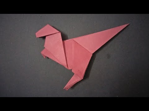 how to make an easy origami dinosaur step by step