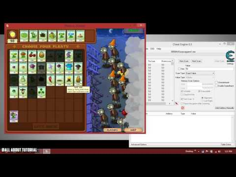 How to use : Cheat Engine [Plants vs Zombies Case] 2016