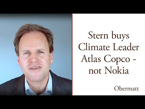 Climate Leader Atlas Copco, not Nokia