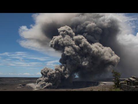 Plumes of ash billow from Hawaii's Kilauea volcano