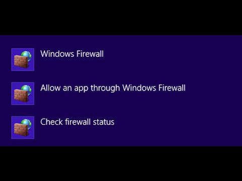How to Change Firewall Settings and how to Turn it on or off on Windows 8