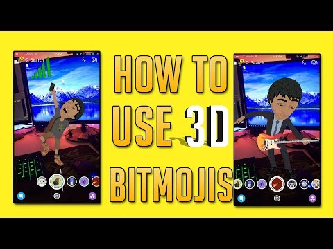 Snapchat Update 10.17.0 - How to Use 3D Bitmoji's on Snapchat! (Snapchat Tips and Tricks)