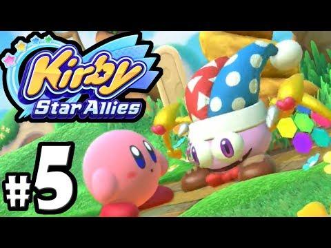 Kirby Star Allies - 2 Player Co-Op! - Switch Gameplay Walkthrough PART 5: Marx VS Meta Knight Boss