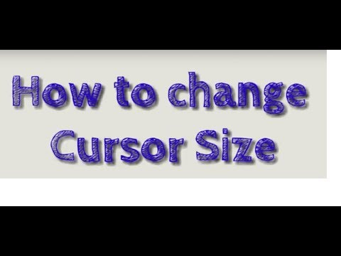 Changing Cursor Size in AutoCAD