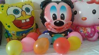 Learn Colors (English) Spongebob, mickey mouse, balon color