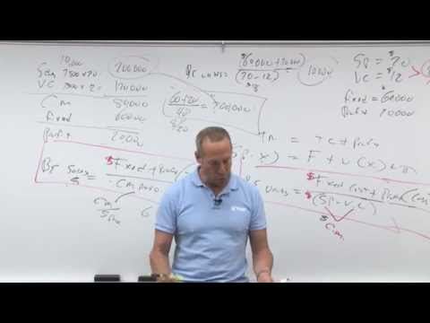 Cost Volume Profit - Lesson 2