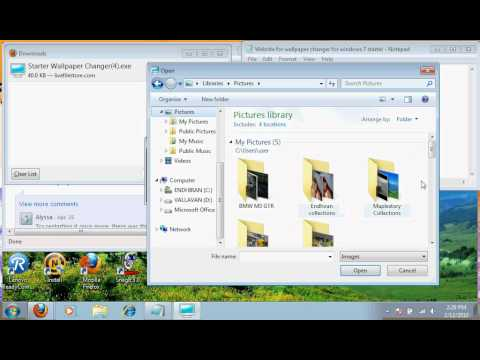 How to change your Windows 7 Starter edition wallpaper.