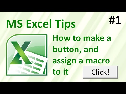 How to make a button, and assign a macro to it in Excel (Excel tips #1)