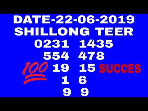 Shillong Teer 22-06-2019 | 🔥🔥🔥 Teer Calculation 22-06-2019
