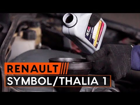 How to replace engine oil and oil filter onRENAULT SYMBOL/THALIA 1[TUTORIAL AUTODOC]