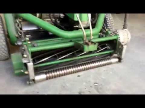 Backlapping a John Deere walker mower