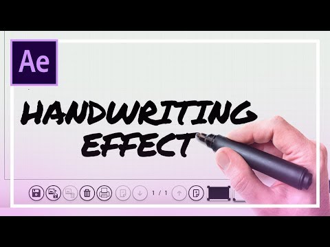 Handwriting Effect in After Effects CC 2018