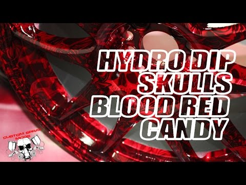 Hydrodipping Blood Red Candy & Hydro Graphic Skulls