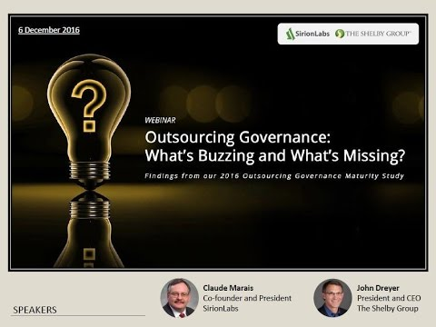 SirionLabs Webinar - 'Outsourcing Governance - What's Buzzing and What's Missing?''