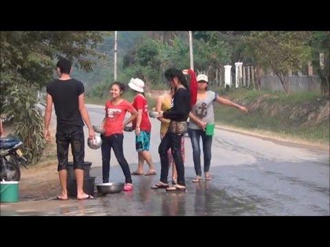 Muang Long Girls get Soaking Wet, Laos New Year