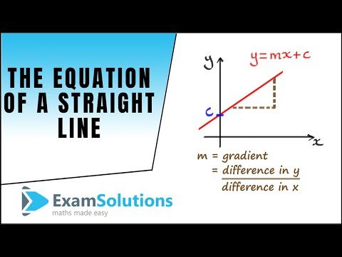 Equation of a line y=mx+c : ExamSolutions