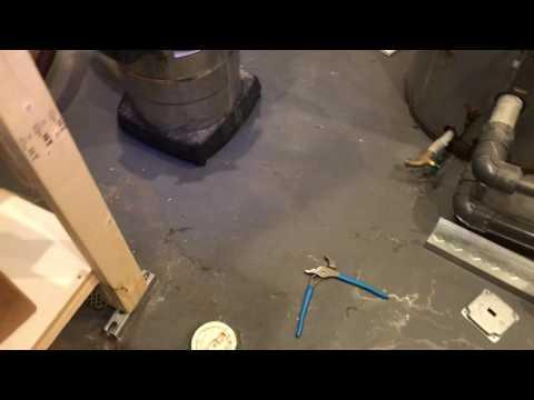 Laundromat Drain Access Below The Floor