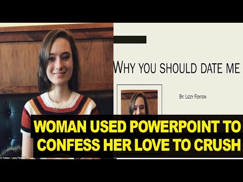 Woman Uses VERY FUNNY Powerpoint Presentation to Show Guy She's Interested