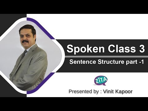Spoken English Class 3| English Speaking Class|Sentence Structures|How to make sentences in English