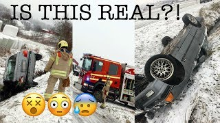 I CRASHED MY BMW E36!! ACTUAL FOOTAGE!
