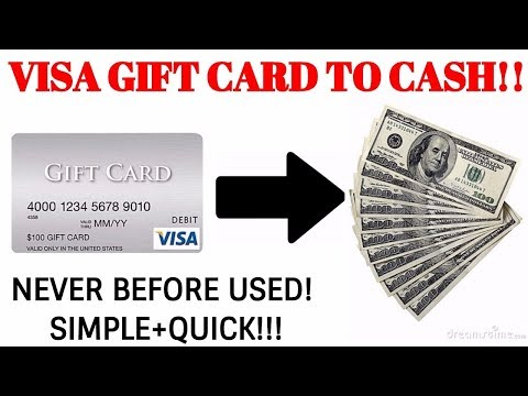 Turn Your Visa Gift Card Into Cash 2017