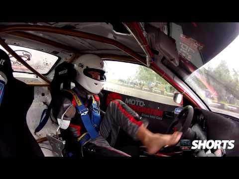 Drift.ro Shorts: Polish Pro Drifter Bartosz drifts using his feet part 2