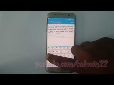 Samsung Galaxy S7 Edge : How to Change Keyboard Size (Android Marshmallow)