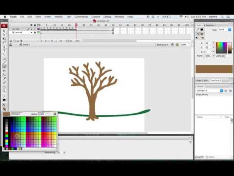 Keyframe Animation of a Tree Growing
