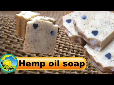 Making and Cutting Hemp Oil Cold Process soap