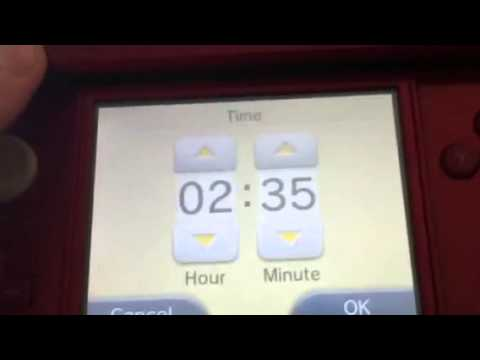 How to change the time on you 3ds