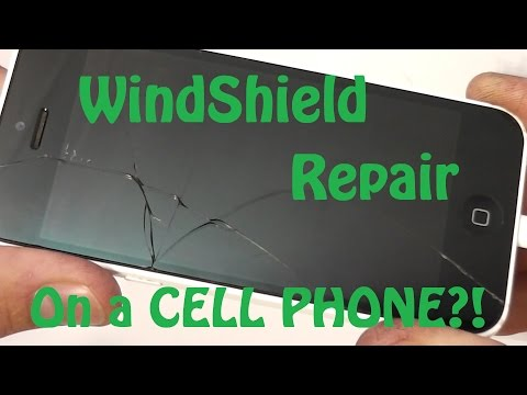 Using a Windshield Repair Kit on a Cracked Smart Phone