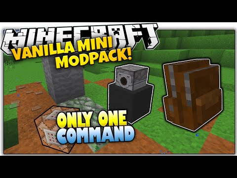 Minecraft VANILLA MOD PACK | Backpacks, Paths & MORE | Only One Command (Minecraft Vanilla Mod Pack)