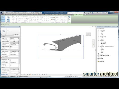 Revit Roof Tutorial - Creating A Shed Revit Curved Roof