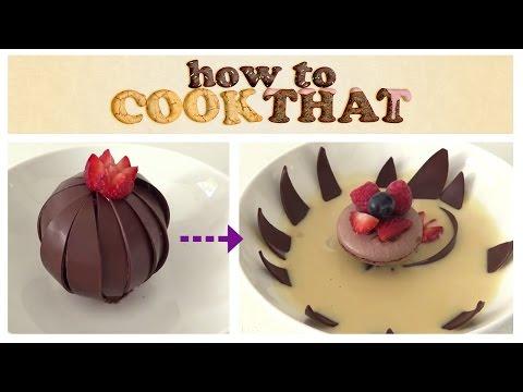 MAGIC CHOCOLATE FLOWER DESSERT How To Cook That Ann Reardon