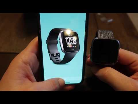 Fitbit Versa Special Edition Set Up Process